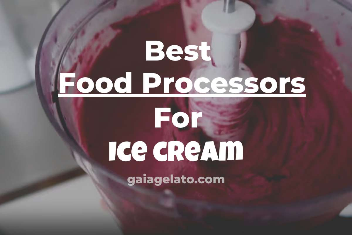 Best Food Processors for Ice Cream